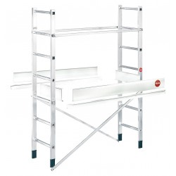 Hailo - 9477-001 - Scaffold Ladder Add-On, Aluminum, 11 ft. Platform Height, 6 ft. Overall Height