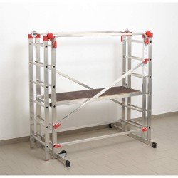 Hailo - 9459-501 - Portable Scaffold, Aluminum, 7 ft. 6 Platform Height, 5 ft. 6 Overall Height