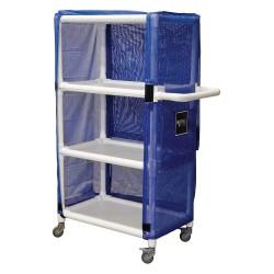 Royal Basket Trucks - G32-BBX-L3A-3ULN - PVC Linen Cart, Blue, 450 lb.