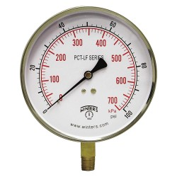 Winters Instruments - PCT324LF - Gauge, Pressure, 0 to 160 psi, 4-1/2 in.