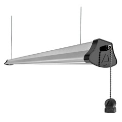 Acuity Brands Lighting - 1292L - Lithonia Lighting 1292L LED Shop Light w/Plug, Silver/Black