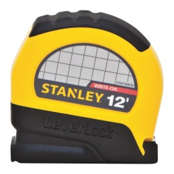 Stanley / Black & Decker - STHT30810 - 12 ft. Steel SAE Tape Measure, Black/Yellow