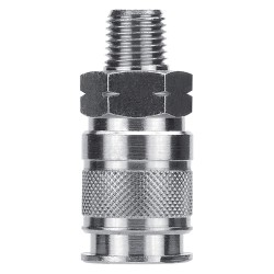 Alpha Fittings - 80191-06 - Brass Industrial, Tru-Flate-Automotive Quick Coupler Body