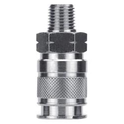 Alpha Fittings - 80191-08 - Brass Industrial, Tru-Flate-Automotive Quick Coupler Body