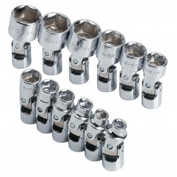 SK Hand Tool - 1337 - 1/4Drive Metric Chrome Socket Set, Number of Pieces: 12