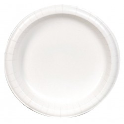 Dixie - SXP10W - 10-1/8 Round Disposable Plate, White; PK500