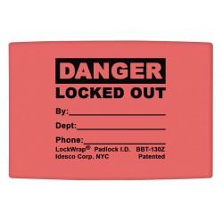 Idesco - LMBBT126AAC - Padlock Label, 1-5/8inHx1-1/2inW, PK25