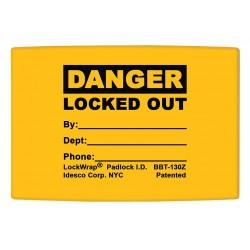 Idesco - LMBBT127AAC - Padlock Label, 1-5/8inHx1-1/2inW, PK25