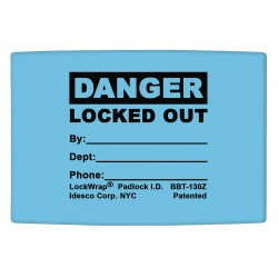 Idesco - LMBBT128AAC - Padlock Label, 1-5/8inHx1-1/2inW, PK25