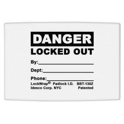 Idesco - LMBBT130AAC - Padlock Label, 1-5/8inHx1-1/2inW, PK25
