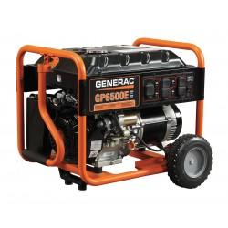 Generac - 5941 - Electric/Recoil Gasoline Portable Generator, 6500 Rated Watts, 8125 Surge Watts, 120/240VAC