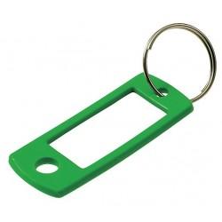 Lucky Line - 16950 - 2 x 7/8 Split Ring Key Tag, Black, Blue, Green, Purple, Red, Yellow; PK50