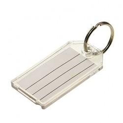 Lucky Line - 2041020 - 2-1/4 x 1-1/8 Split Ring Key Tag, Clear; PK20