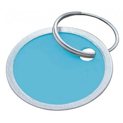 Lucky Line - 28529 - 1-1/4 x 1-1/4 Metal-Rimmed Ring Key Tag, Blue, Green, Orange, Red and Yellow; PK25