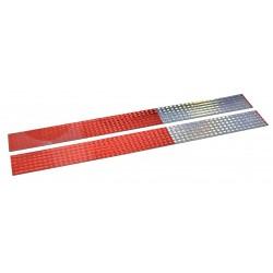 Incom / Top Tape & Label - V5720P25 - Reflective Marking Tape, Striped, Rectangle, 2 Width, 1 EA