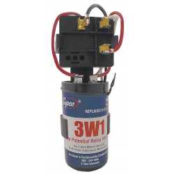 Supco - 3W1 - Hard Start, 3 Wire, 1 - 3 Hp