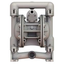 Versa-Matic / Warren Rupp - E1AA6X669C-ATEX - Aluminum Santoprene Single Double Diaphragm Pump, 49 gpm, 125 psi