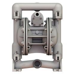 Versa-Matic / Warren Rupp - E1SA6X669C-ATEX - Stainless Steel Santoprene Single Double Diaphragm Pump, 49 gpm, 125 psi