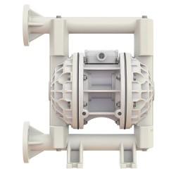 Versa-Matic / Warren Rupp - E1PA2R229C - Poly Buna N Single Double Diaphragm Pump, 45 gpm, 100 psi