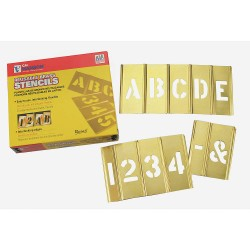 C.H. Hanson - 10065 - Stencil Kit, Letters, Numbers, and Punctuation, 2-1/2, Brass, 1 EA