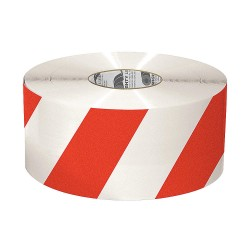 Mighty Line - 6RWCHVRED - Industrial Floor Tape, Striped, Continuous Roll, 6 Width, 1 EA