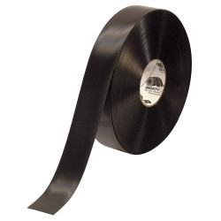 Mighty Line - 2RBLK - Industrial Floor Tape, Solid, Continuous Roll, 2 Width, 1 EA