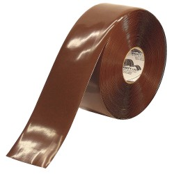 Mighty Line - 4RBRN - Industrial Floor Tape, Solid, Continuous Roll, 4 Width, 1 EA