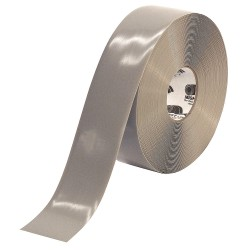 Mighty Line - 3RGRY - Industrial Floor Tape, Solid, Continuous Roll, 3 Width, 1 EA