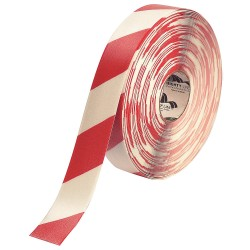 Mighty Line - 2RWCHVRED - Industrial Floor Tape, Striped, Continuous Roll, 2 Width, 1 EA