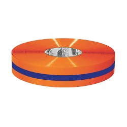 Mighty Line - 2ROBCTR - Industrial Floor Tape, Solid with Center Line, Continuous Roll, 2 Width, 1 EA
