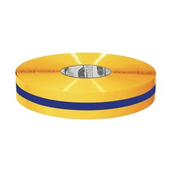 Mighty Line - 2RYBCTR - Industrial Floor Tape, Solid with Center Line, Continuous Roll, 2 Width, 1 EA
