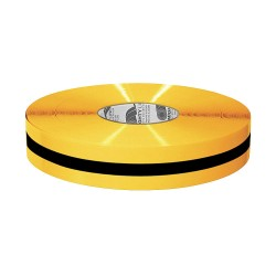 Mighty Line - 2RYBLKCTR - Industrial Floor Tape, Solid with Center Line, Continuous Roll, 2 Width, 1 EA