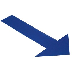 Mighty Line - ARROW10B - Industrial Floor Tape Markers, Solid, Arrow, 6 Width, 50 PK