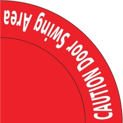 Mighty Line - DOORSWINGR36 - Door Instruction, Vinyl, 36 x 36, Adhesive Floor