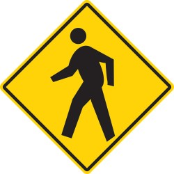 Mighty Line - PEDESTRIAN16 - Road Traffic Control, Vinyl, 16 x 16, Adhesive Surface