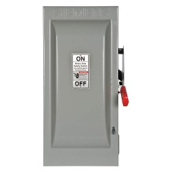 Siemens - HF223N - Safety Switch, 1 NEMA Enclosure Type, 100 Amps AC, 30 HP @ 240VAC HP