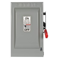 Siemens - HF362 - Safety Switch, 1 NEMA Enclosure Type, 60 Amps AC, 50 HP @ 600VAC HP