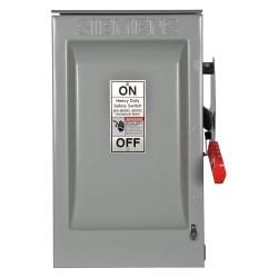 Siemens - HNF362R - Safety Switch, 3R NEMA Enclosure Type, 60 Amps AC, 60 HP @ 600VAC HP