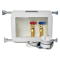 Oatey - 38473 - 10 x 13.50 Polystyrene/Low Lead Alloy Washing Machine Outlet Box with PEX 1960 Inlet Connection