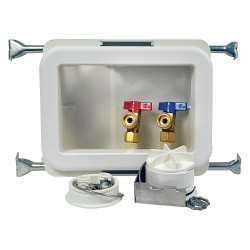Oatey - 38471 - 10 x 13.50 Polystyrene/Low Lead Alloy Washing Machine Outlet Box with CPVC Solvent Inlet Connectio