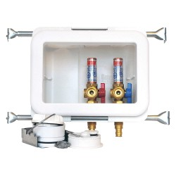 Oatey - 38481 - 10 x 13.50 Polystyrene/Low Lead Alloy Washing Machine Outlet Box with PEX 1960 Inlet Connection