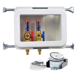 Oatey - 38480 - 10 x 13.50 Polystyrene/Low Lead Alloy Washing Machine Outlet Box with PEX 1807 Inlet Connection
