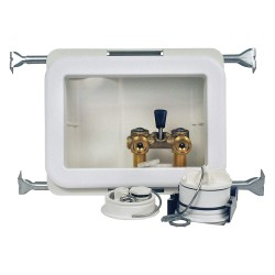 Oatey - 38474 - 10 x 13.50 Polystyrene/Low Lead Alloy Washing Machine Outlet Box with Copper Sweat Inlet Connectio