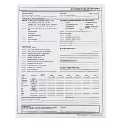 Brady - 65936 - Confined Space Entry Permits, Paper, PK25