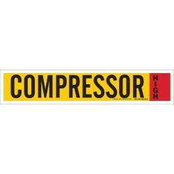 Brady - 90341 - Compressor High Ammonia Pipe Markers, High Pressure Level, (Blank), 1 EA