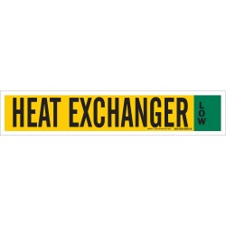 Brady - 90343 - Heat Exchanger Low Ammonia Pipe Markers, Low Pressure Level, (Blank), 1 EA