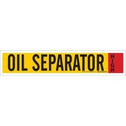 Brady - 90349 - Oil Separator High Ammonia Pipe Markers, High Pressure Level, (Blank), 1 EA