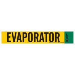 Brady - 90350 - Evaporator Low Ammonia Pipe Markers, Low Pressure Level, (Blank), 1 EA