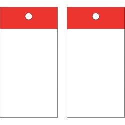 Brady - 102011 - Blank Tag, Red, Height: 5 x Width: 3-1/4, 25 PK