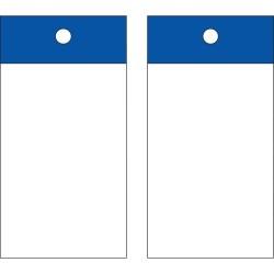 Brady - 102013 - Blank Tag, Blue, Height: 5 x Width: 3-1/4, 25 PK